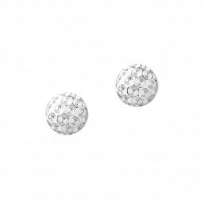 Golf Goddess Golf Ball Earrings - Silver